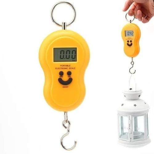 Balanza Digital Electrónica De Colgar Portatil 50kg Amarilla