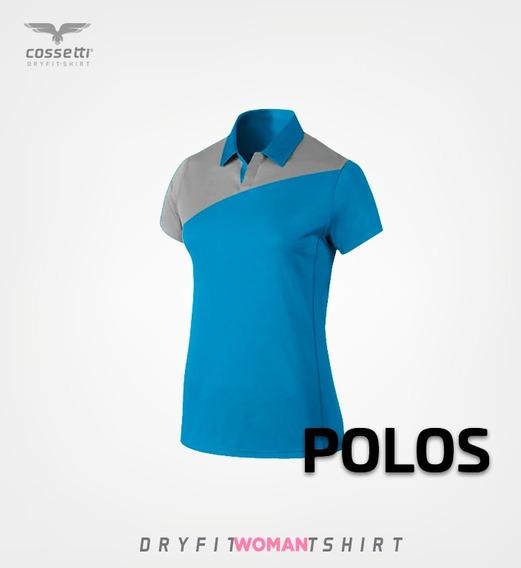 Playera Tipo Polo Cossetti Manga Corta Dry Fit