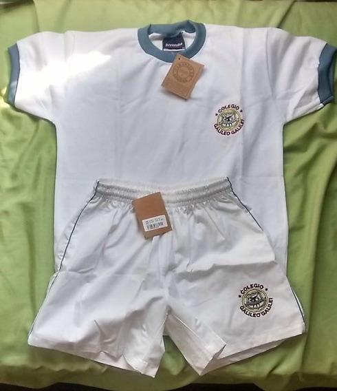 Remera M/c+pantalón Corto Deportes Col.galileo Galilei Nuevo