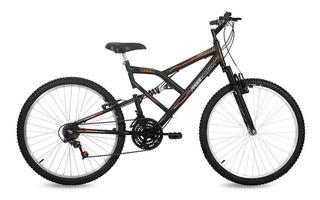 Bicicleta Fa-240 Free Action Aro 26 18 Marchas Preto Fosco