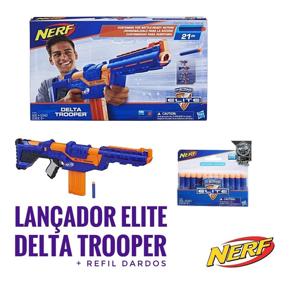 Onetoybox Nerf Lançador Elite Delta Trooper E Refil