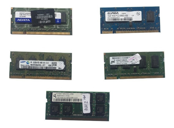 Memoria Sodimm Ddr2 1gb 6400 - 800mhz P/ Notebook Netbook