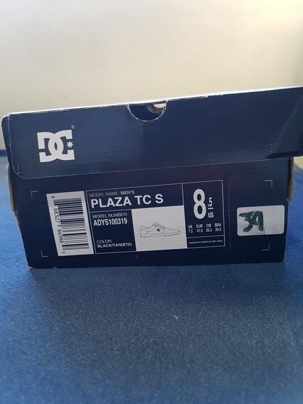 Tênis Dc Shoes Plaza Tc S Black/tan Importado