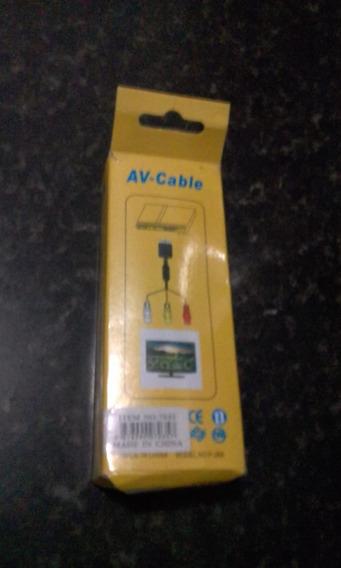 Cabo Para Play Station Ps1 E Ps2 Av Cable