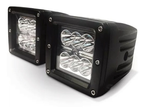 Faro Proyector De 6 Led 18watts Off Road Iluminacion X 2 Un