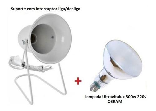 Imagem 1 de 5 de Suporte + Lampada Ultravitalux 300w 220v Osram