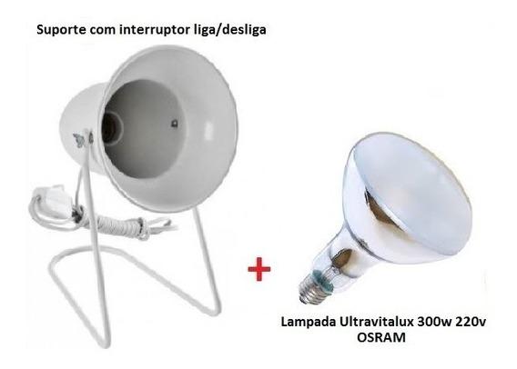 Suporte + Lampada Ultravitalux 300w 220v Osram