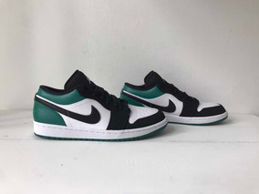Sneakers Originales Jordan 1 Low White Black Mystic Green