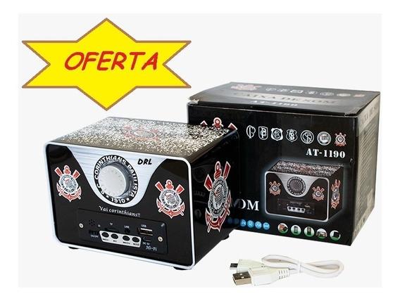 Caixa De Som Retro Mp3 -corinthians- Oferta Especial