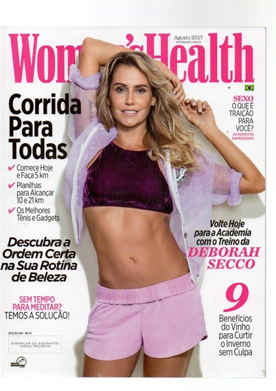 Revista Womenshealth Deborah Secco Corrida Para Todas/2017