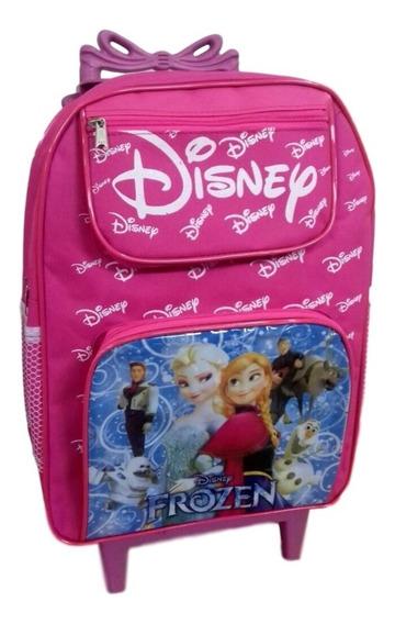 Mochila Escolar Infantil Frozen Com Rodinhas Rosa