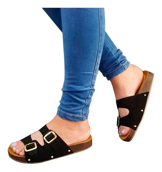 Sandalias Dama Casuales Cómoda Plataforma Baja Suave Confort