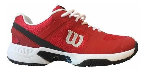 Zapatillas Wilson Set 2.0 Tenis Padel Hombre Rojo