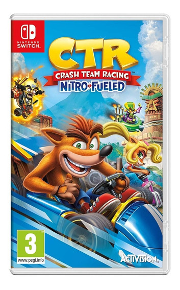 Crash Team Racing Nitro Fueled - Switch - Mídia Física