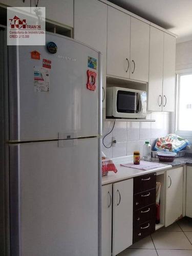 Apto 3 Dorms 3 Gars 92m² Vl. Pinheirinho, Santo André. - Ap0109
