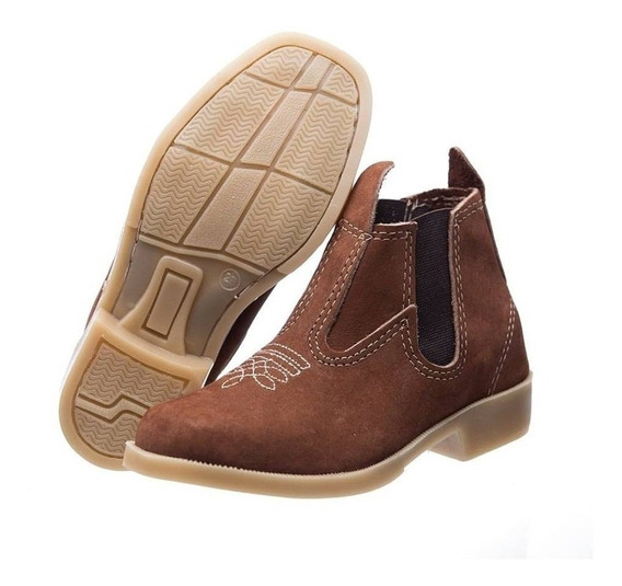 Botina Infantil Masculina Country Kids Texana Couro M236