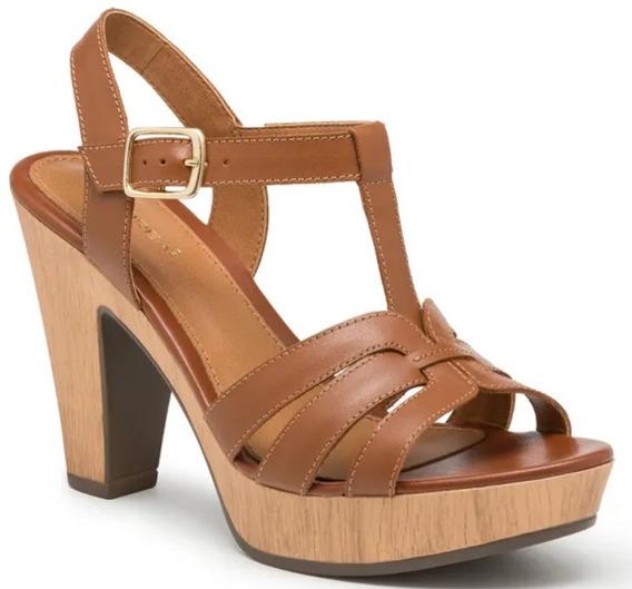 Sandalia Zapato T-bar Mujer Café Modelo 2397542 Andrea