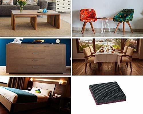 Incl Sossai/® MG2 tornillo 20 x separadores del suelo//almohadillas para muebles//patas para muebles para atornillar Color: marron Tama/ño: 50x14x5 mm