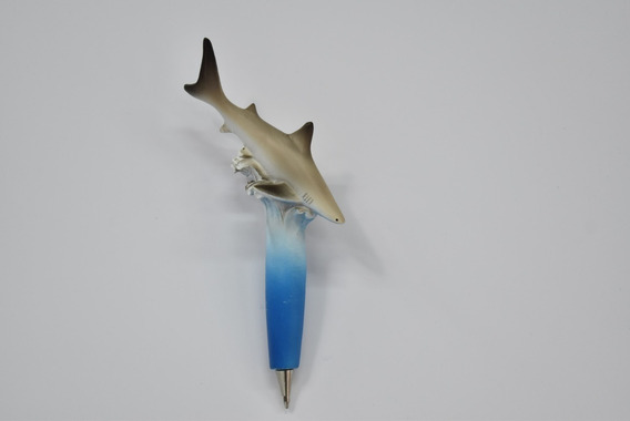 Lapicera Tiburón Cerámica 10cm Mundo Marino