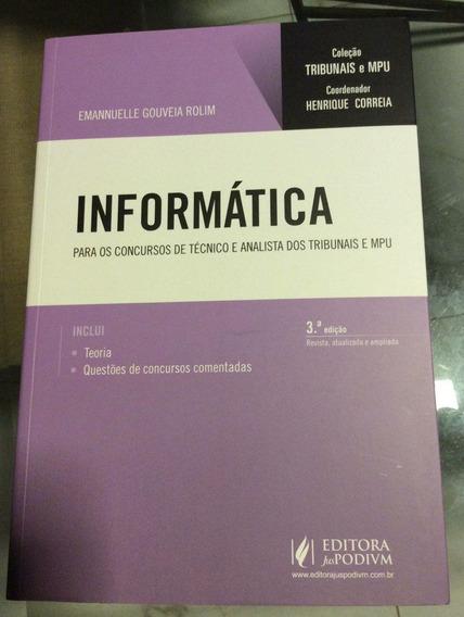 Coleção Tribunais E Mpu - Informática (2018)