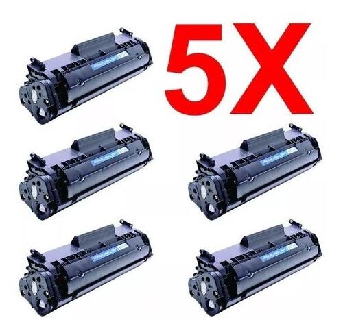 Imagem 1 de 1 de Kit 5 Peças Toner Compatível Q2612a Q2612 2612a 2612 12a