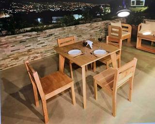 Mesa-comedor De Madera Para 4 Personas (incluye Sillas)