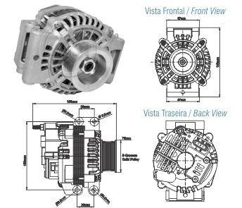 Alternador Bosch 100a 24v Scania G P R T 0124655007