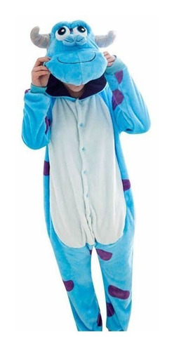 Imagen 1 de 4 de Pijama Disfraz Kigurumi Plush Tipo Sully Adulto