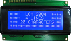 Display Lcd Tela Azul 20x4 2004 Arduino - 0276