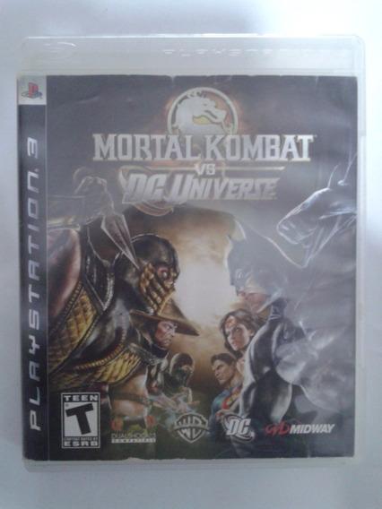 Jogo Original Playstation 3 - Mortal Kombat Vs Dc Universe