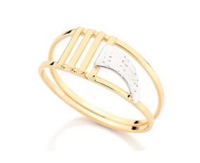 Conjunto Rommanel 3 Anéis + Cordão 60cm + Brinco Agulha