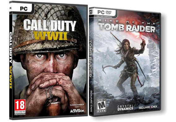 Rise Of The Tomb Raider + Call Of Duty Ww2 Pc Dvd Frete 8 R$