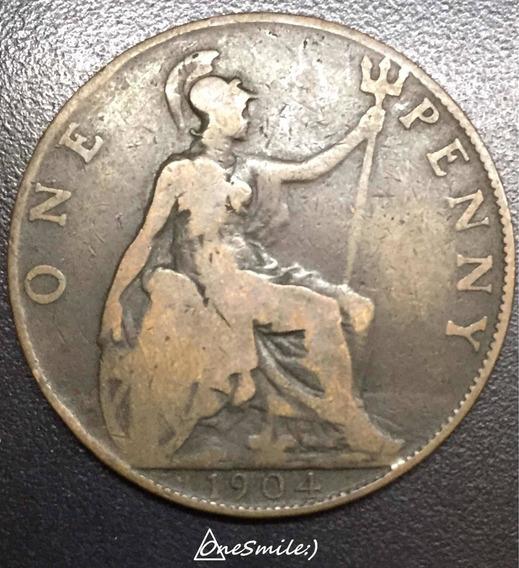 Onesmile:) Moneda De Gran Bretaña One Penny 1904