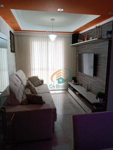 Apartamento Com 2 Dormitórios À Venda, 56 M² Por R$ 225.000,00 - Bonsucesso - Guarulhos/sp - Ap3950