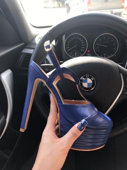 Sandália Meia Pata 2019 - Azul, Salto 15cm - Várias Cores