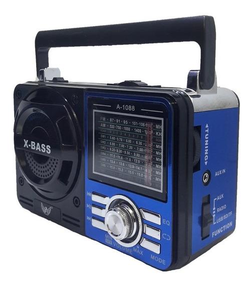 Caixa De Som Portátil Retro Rádio Analógico Mp3 Usb Am Fm