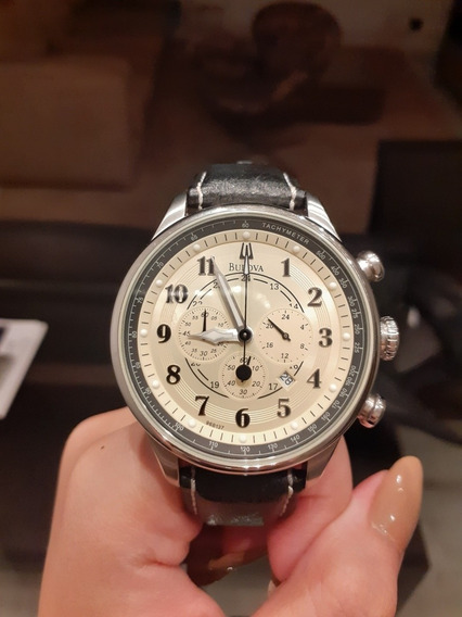 Relógio De Pulso Bulova Watch 96b137 Intacto Original