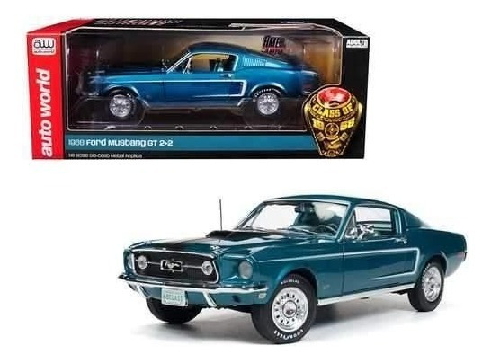 Ford Mustang Gt 2+2 1968 Class Of 68 1:18 Autoworld