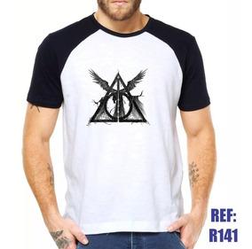 Camisa Raglan Harry Potter E As Relíquias Da Morte Hp Filme