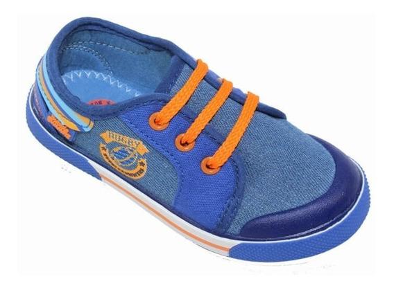 Tenis Casual Bubble Gummers Niño Azul Rey Textil Charls