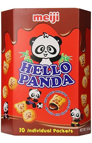 Imagen 1 de 5 de Meiji Hola Panda De La Galleta De Chocolate, 9,1 Onza