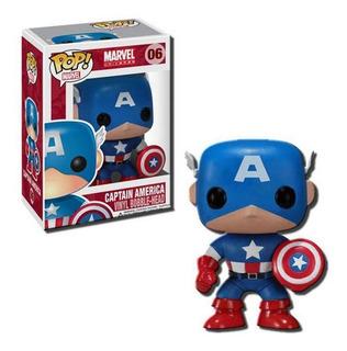 Funko Pop 2224 Marvel Captain America Bobble #06 Original