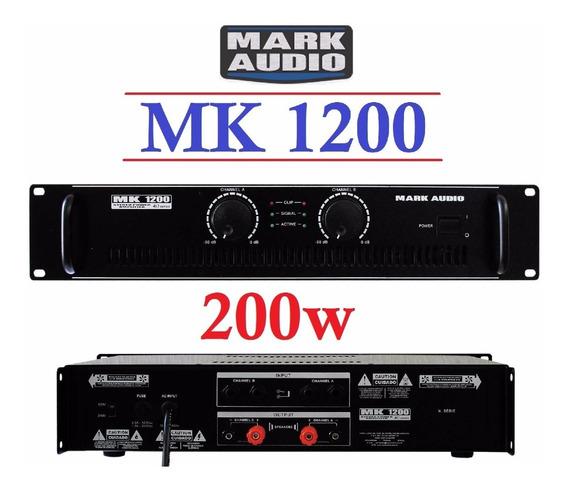 Amplificador Potência Mark Audio Mk1200 200w 4:2x100 8:2x75w