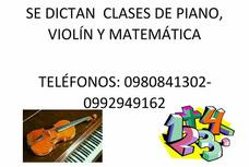 Curso De Violín, Piano, Matemáticas