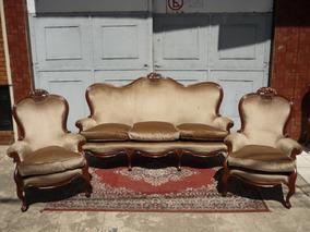 Antiguo Juego De Sillones Estilo Colonial Ingles Sofa Living
