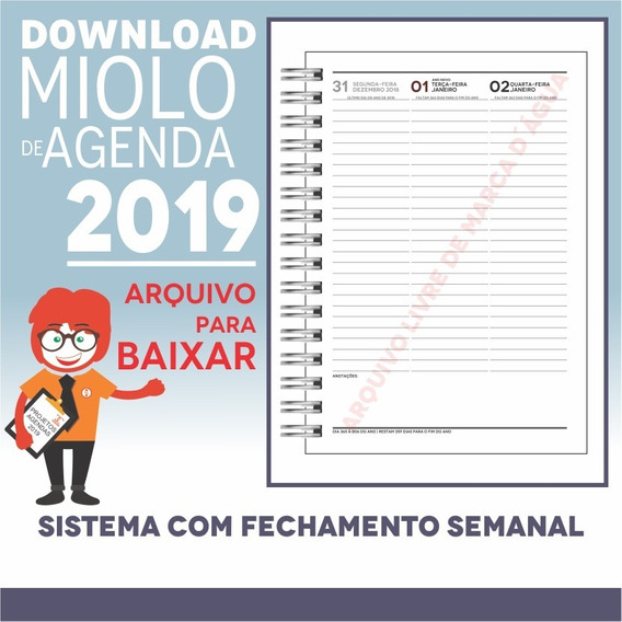 Download Miolo Agenda 2019 | Pdf E Corel Draw X7 | A5smm1