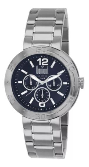 Relógio Masculino Dumont Rotor Du6p29abi/3a - Prata