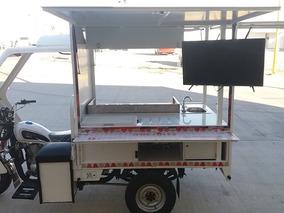 Motocarro Nuevo Negocio Móvil Tacos Equipado Foodtruck