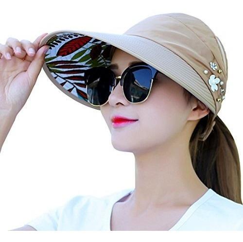 Sombrero De Sol Plegable Para Mujer Oyachic Gorro Ancho De V