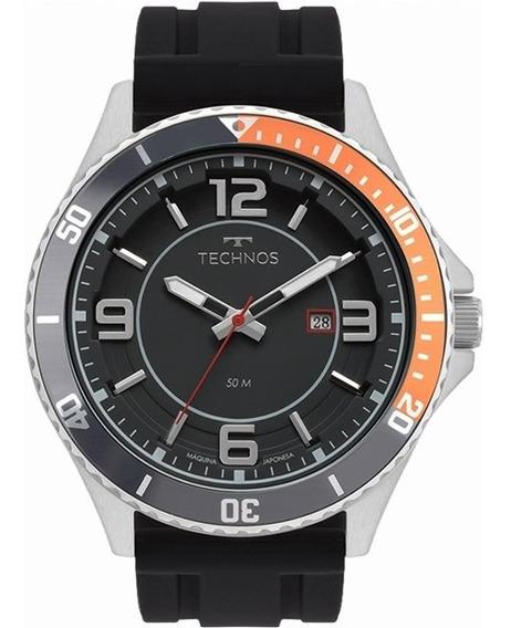 Relógio Technos Masculino Prata 2115msj/8p Lançamento 2019
